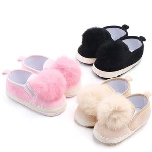 Other - Baby Pink Pom-Pom Shoes
